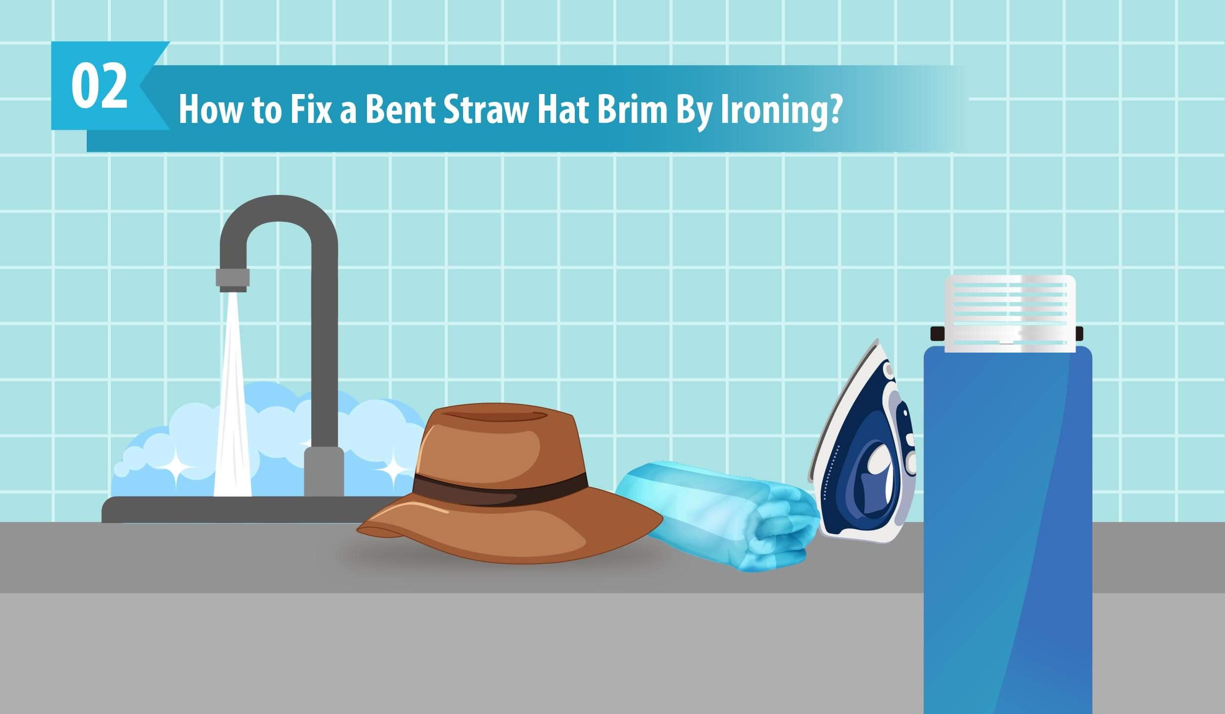 How to Fix a Bent Straw Hat Brim By Ironing