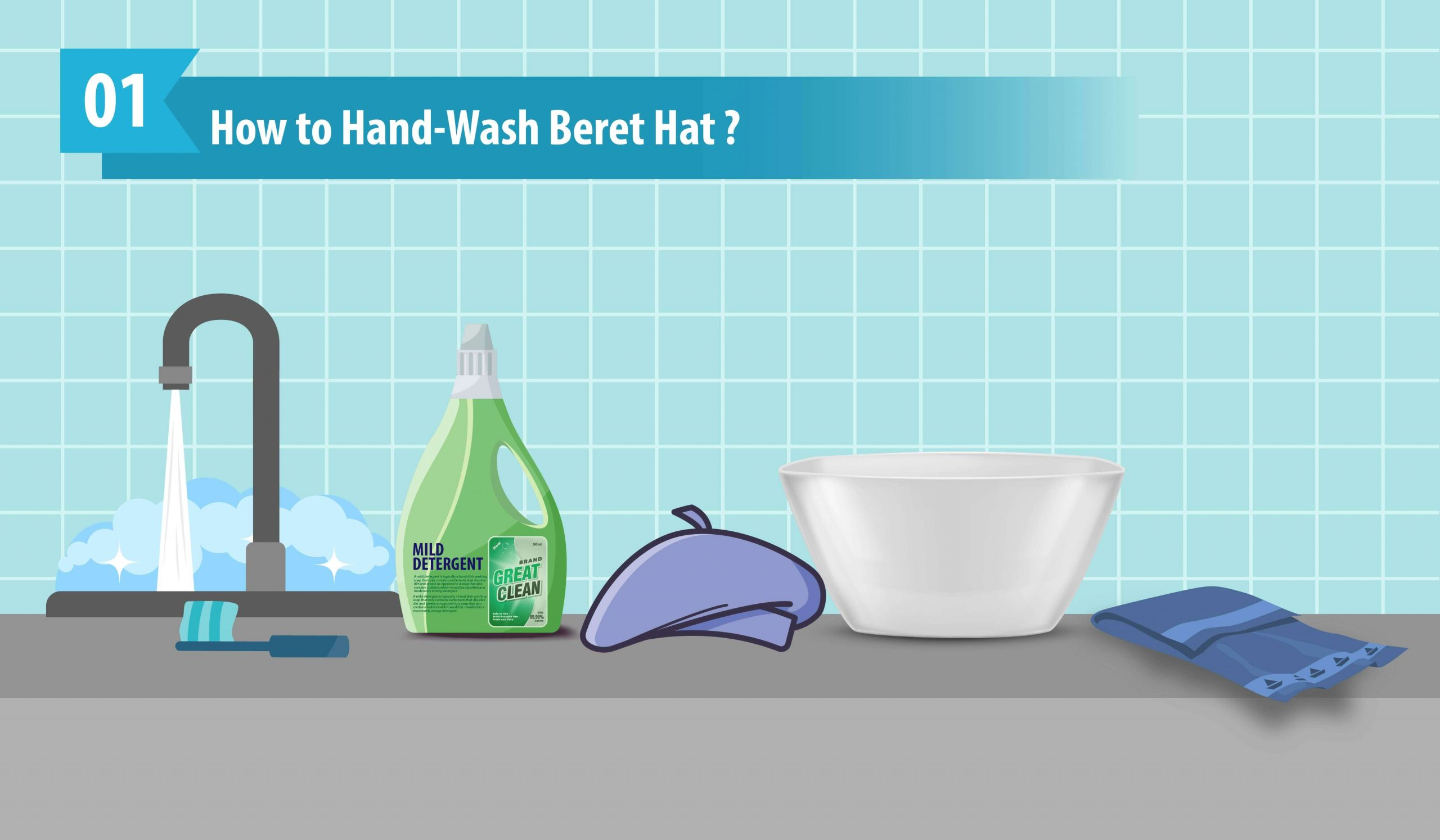 How to Hand Wash Beret Hat