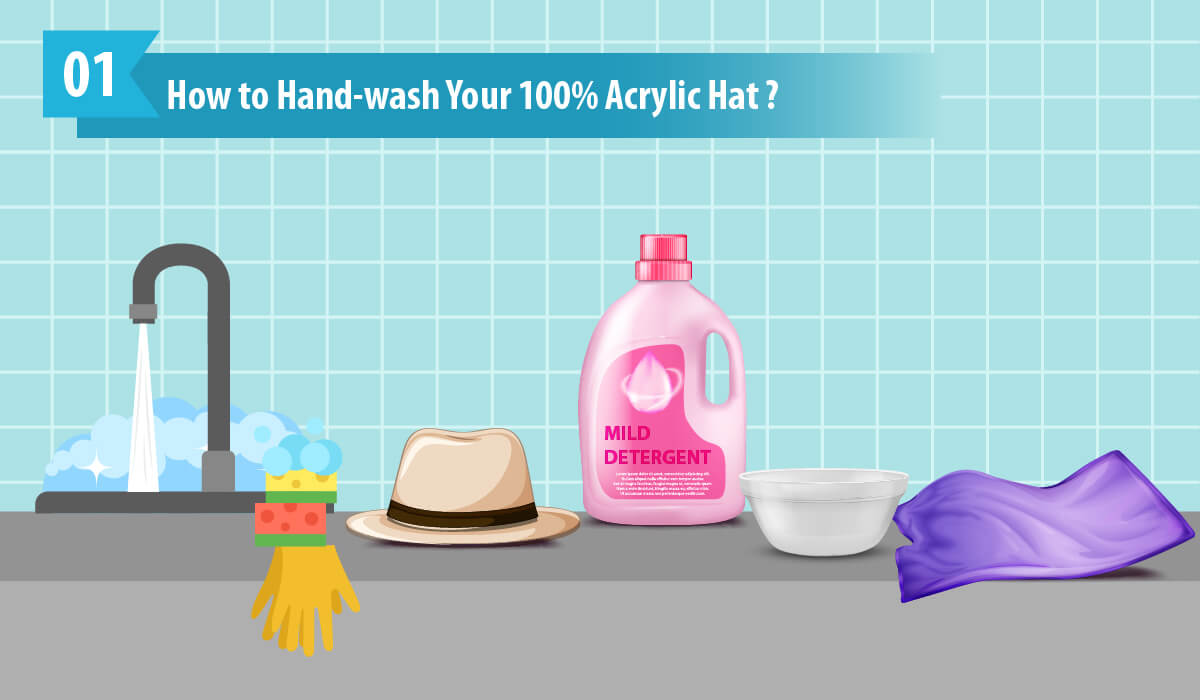 How to Hand Wash Your 100% Acrylic Hat