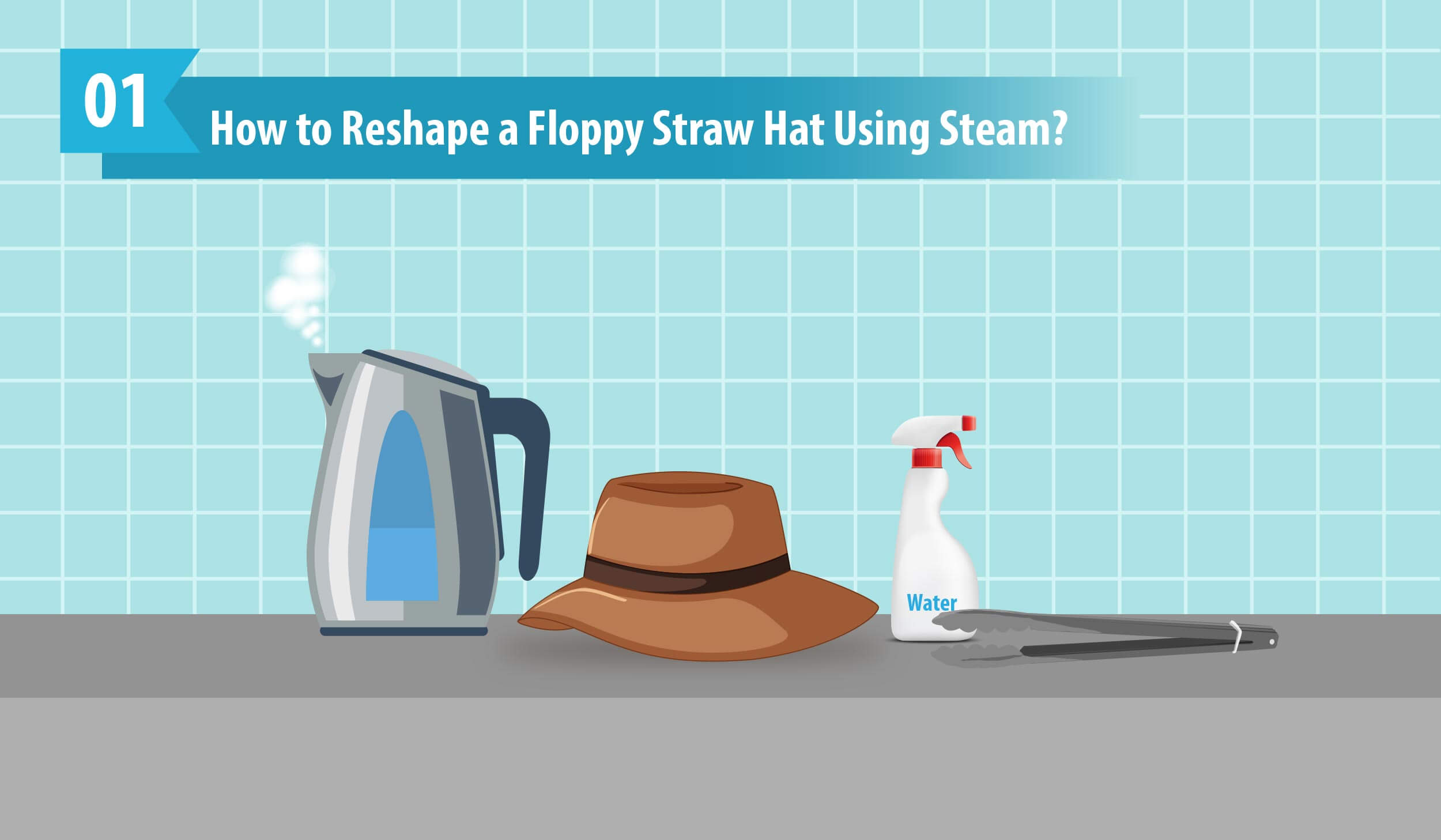 How to Reshape a Floppy Straw Hat Using Steam