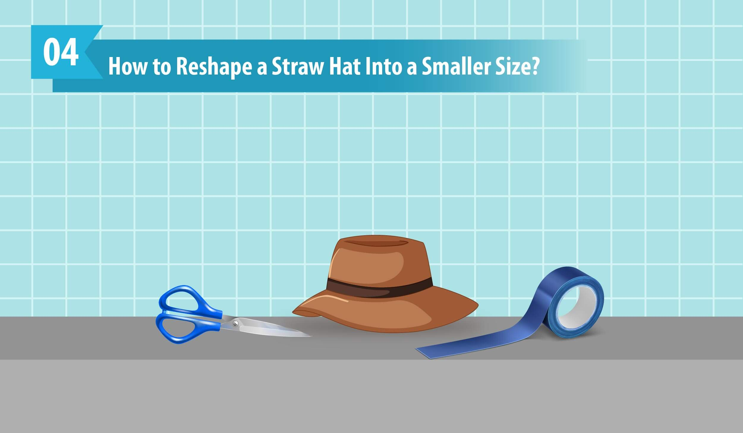 How to Reshape a Straw Hat Into a Smaller Size