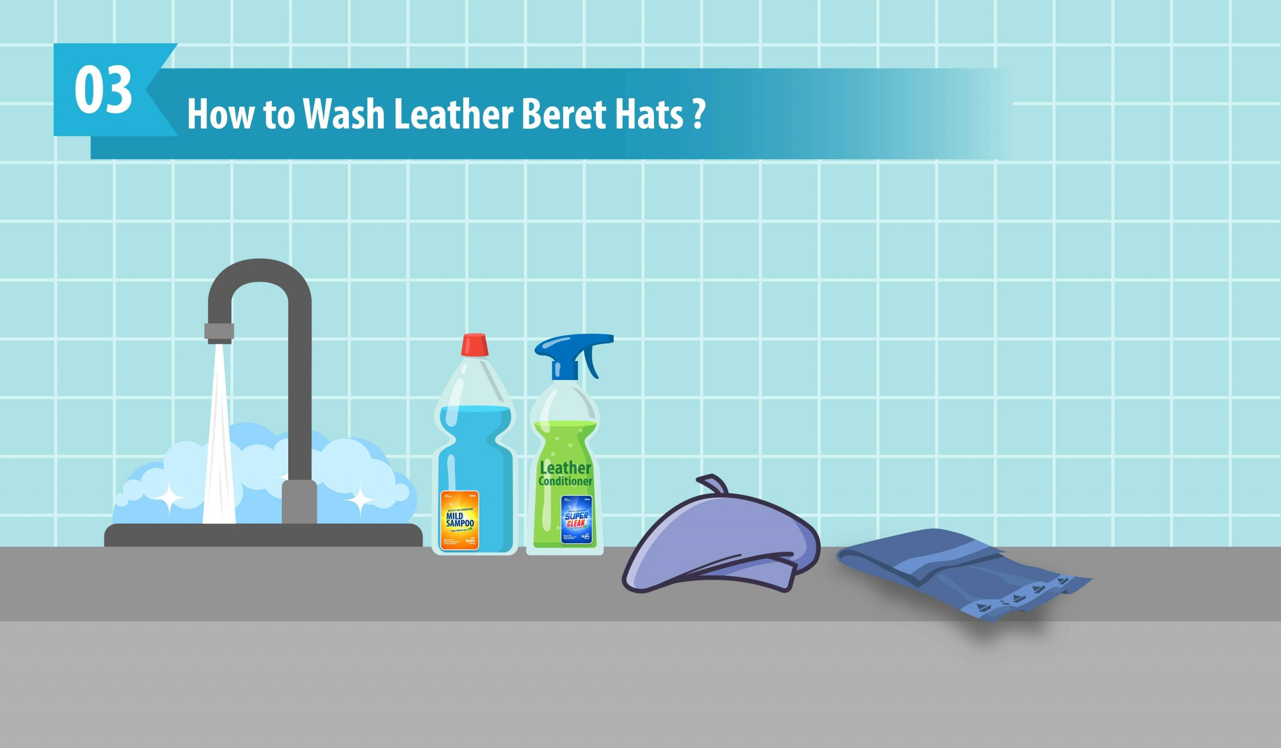 How to Wash Leather Beret Hats
