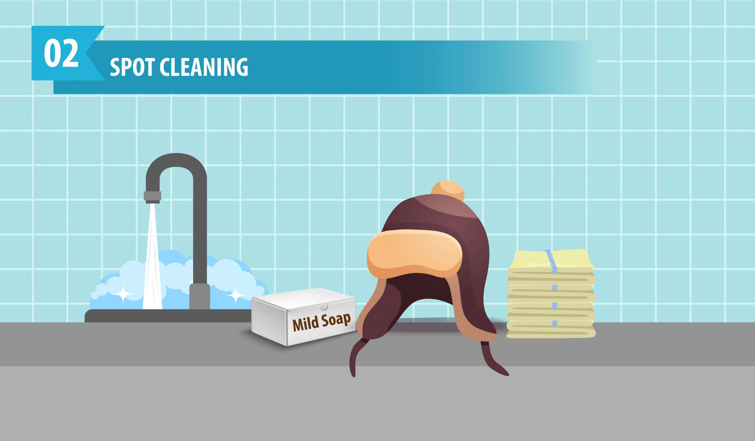 Spot Cleaning Fur Hat