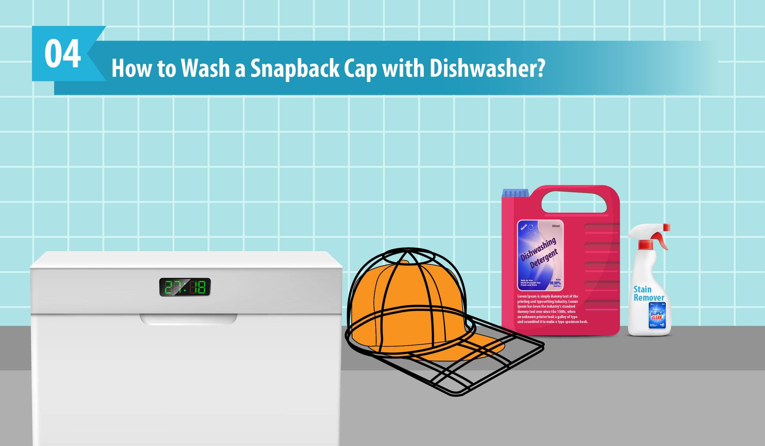 How to Wash a Snapback Cap with Dishwasher