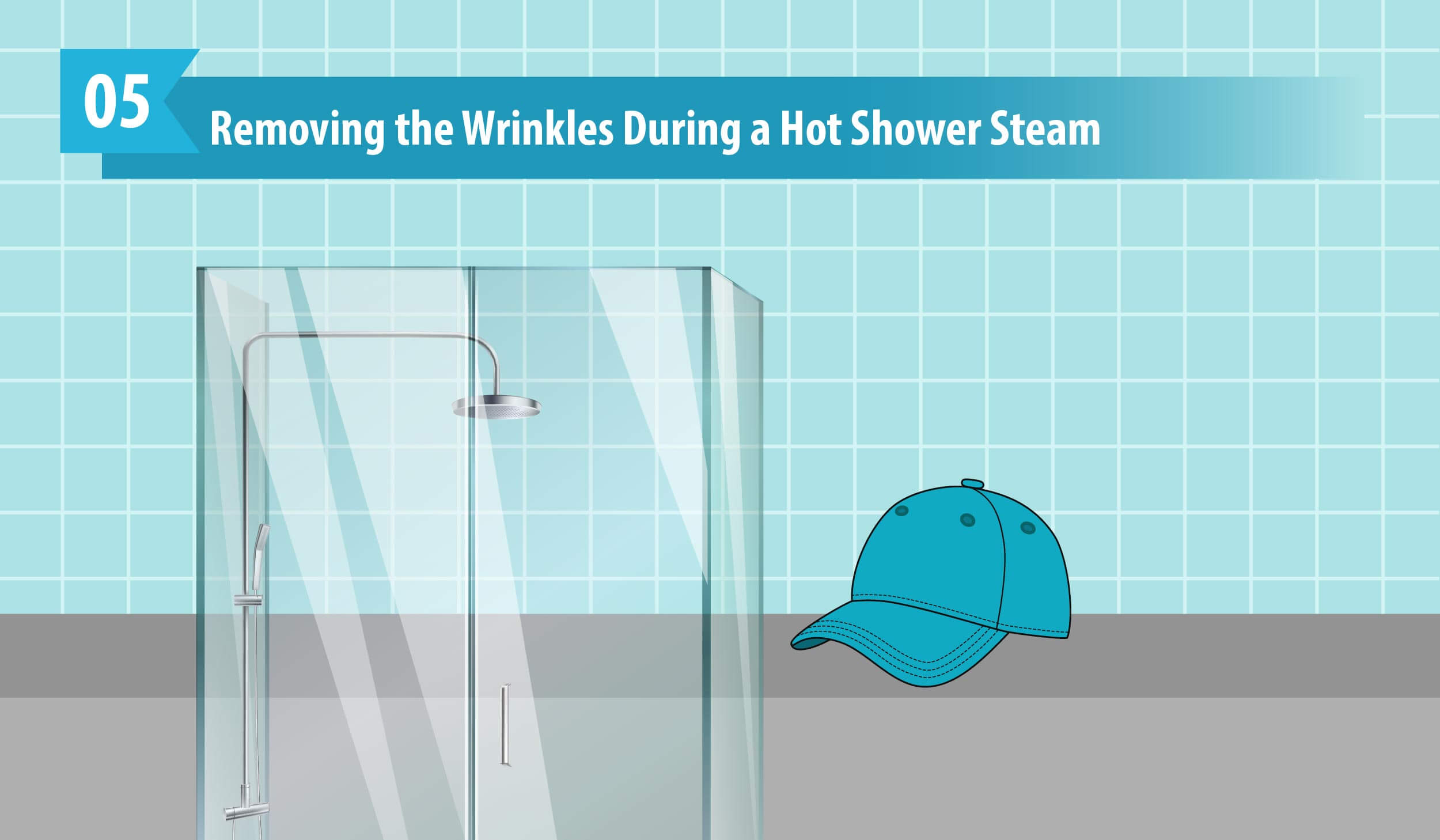 Removing the Wrinkles During a Hot Shower Steam