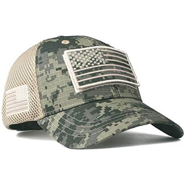 Low Profile Hat with American USA Flag Patch