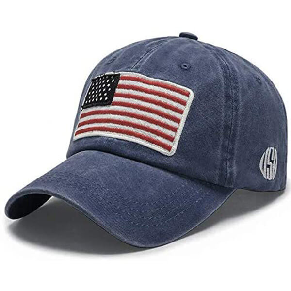 Embroidered American Flag Low Profile Dad Hat