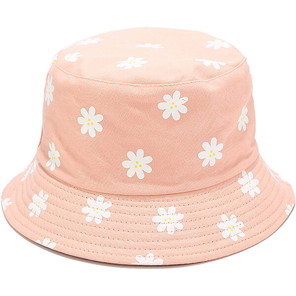 Printed double-side bucket hat for women