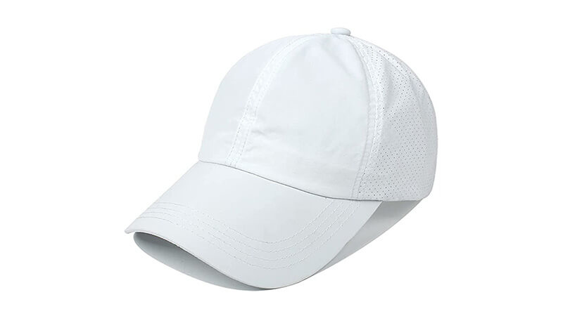 Women's White Baseball Hats And Caps (For Ladies)